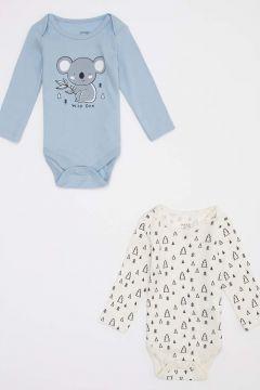 DeFacto Erkek Bebek Baskılı Çıtçıtlı 2 \'li Body(125928628)