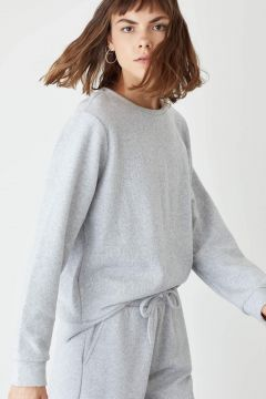 DeFacto Kadın Basic Relax Fit Sweatshirt(125934753)