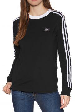 T-Shirt à Manche Longue Femme Adidas Originals 3 Stripe - Black(111332551)