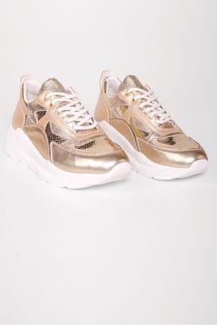 Shoes & More Kadın Altın Spor Ayakkabı(124321975)