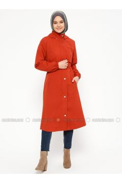 Tan - Terra Cotta - Unlined - Polo neck - Topcoat - Laruj(110319716)