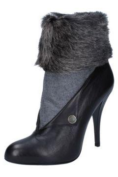 Bottines Gianni Marra bottines noir cuir textile BY756(115401583)