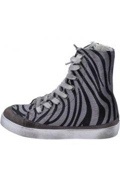 Chaussures enfant 2 Stars sneakers gris cheveux veau daim AD995(115393799)