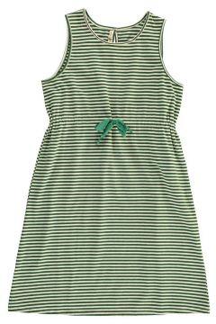 Gestreiftes Kleid mit Taillenband(112328198)