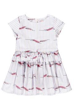 Gestreiftes Kleid mit Rüschen Hannah(113867870)