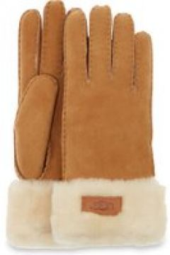 UGG Turn Cuff Gants pour Femmes en Chestnut, taille Grande   Shearling(112238864)