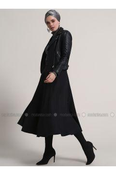 Black - Unlined - Acrylic - Skirt - Refka(110322448)