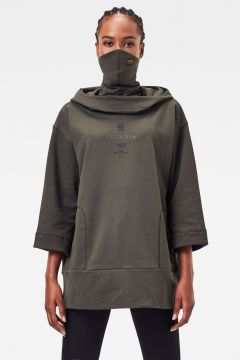 G-Star RAW Women Oversized Hood Cover Sweater Grey(123400975)