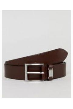 BOSS - Connio - Brauner Ledergürtel mit Logoschlaufe - Braun(83128539)