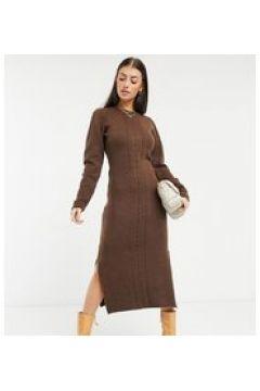 Native Youth - Vestito midi fasciante lavorato a maglia marrone intenso(123527512)