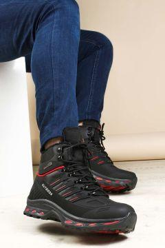 FAST STEP Siyah Kırmızı Erkek Bot TY-16778702(110944340)