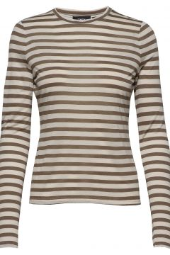 Tiny Tee Ls 2.Stripe Langärmliges T-Shirt Beige THEORY(116547321)