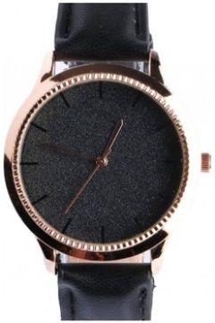 Montre Michael John Montre femme doree strass noir bracelet cuir Staly(115495615)