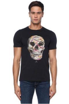 PS by Paul Smith Erkek Lacivert Kurukafa Baskılı Basic T-shirt S EU(121108257)