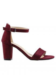 Ayakland Bordo Kadın Topuklu Ayakkabı(120182490)