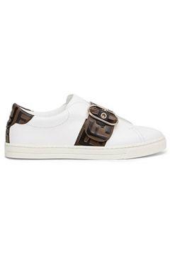 Fendi Kadın Beyaz Logo Detaylı Deri Sneaker 38 EU(113466012)