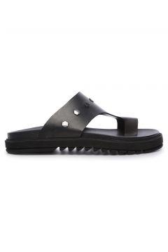 KEMAL TANCA Hakiki Deri Siyah Erkek Terlik Ayakkabı(124055536)