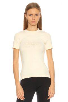 adidas originals-Adidas Originals Baskı Desen Beyaz T-Shirt(115706139)