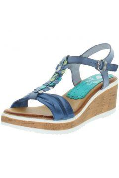 Sandales Marila Talons compensés en cuir ref_neox43583-bleu(128013186)