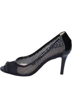 Chaussures escarpins Daniele Ancarani escarpins noir textile cuir verni ap893(98485738)