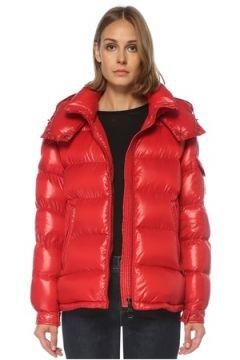 Moncler Kadın Kırmızı Kapüşonlu Puff Mont 0 US(122296607)
