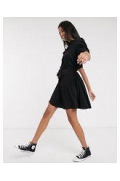 Pimkie - Vestito camicia con bottoni sul davanti nero(121394258)