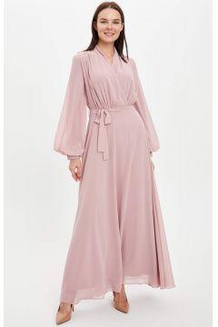 DeFacto Kadın Kuşaklı Uzun Kruvaze Abiye Elbise(119065064)