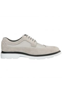 Men's classic suede lace up laced formal shoes derby(97235542)