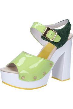 Sandales Suky Brand sandales vert cuir verni textile AB321(115395361)