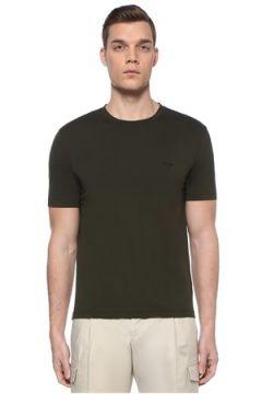 Prada Erkek Haki Basic T-shirt XL EU(109148718)