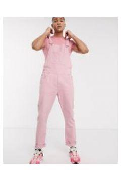 ASOS DESIGN - Salopette di jeans rosa pallido(120357121)