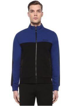 Z Zegna Erkek Mavi Siyah Dik Yaka Sweatshirt XL EU(108933514)