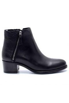 Derimod Kadın Siyah Deri Fermuar Detaylı Topuklu Bot(123306299)