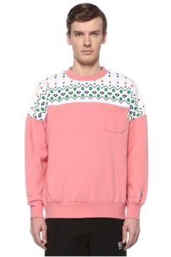 Billionaire Boys Club Erkek Pembe Yakası Desenli Cepli Sweatshirt XL EU(108579546)