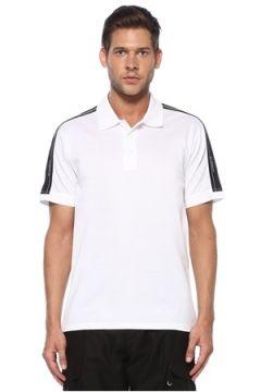 Givenchy Erkek Beyaz Polo Yaka Kontrast Logo Şeritli T-shirt XL EU(119785537)
