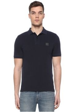 Stone Island Erkek Slim Fit Lacivert Polo Yaka Logolu T-shirt XXXL EU(109265257)