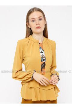 Yellow - Crew neck - Blouses - REPP(110339067)