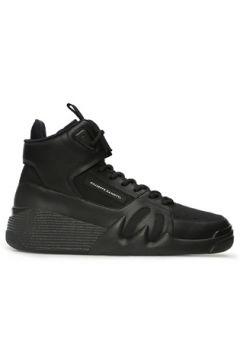 Giuseppe Zanotti Erkek Talon Siyah Logolu Deri Sneaker 42 EU(122987932)