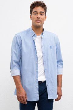 U.S. Polo Assn. Regular Fit Mavi Gömlek(120673708)