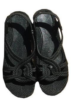 NO NAME Siyah Örme Detaylı Sandalet(123837322)