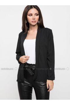 Black - Jacket - DeFacto(110325408)