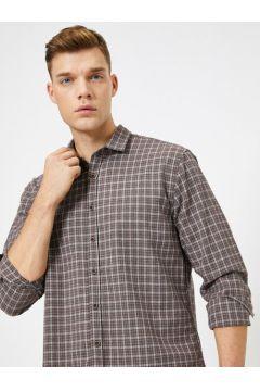 Koton Erkek Ekoseli Uzun Kollu Regular Fit Oduncu Gömlegi(113420574)