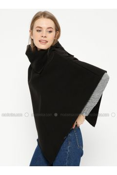 Black - Polo neck - Unlined - Poncho - Pitti Collection(110322767)
