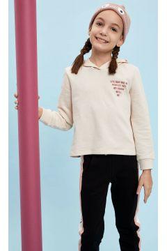 DeFacto Kız Çocuk Baskılı Kapüşonlu Sweatshirt(108642313)