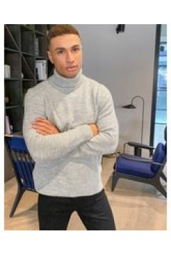 New Look - Maglione dolcevita lavorato a maglia pesante grigio chiaro(123788578)