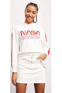 DeFacto Kadın Nasa Kapüşonlu Lisanslı Sweatshirt(119061299)