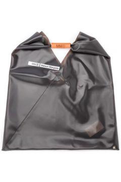Sac à main Mm6 Maison Margiela Sac shopper en PVC gris anthracite(115507163)