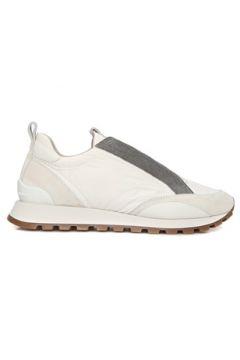 Brunello Cucinelli Kadın Beyaz Zincir Şeritli Deri Sneaker 36 EU(127712563)