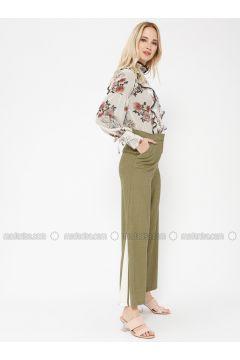 Green - White - Pants - Minimal Moda(110331203)