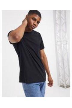 Weekday - T-shirt comoda nera-Nero(120507502)